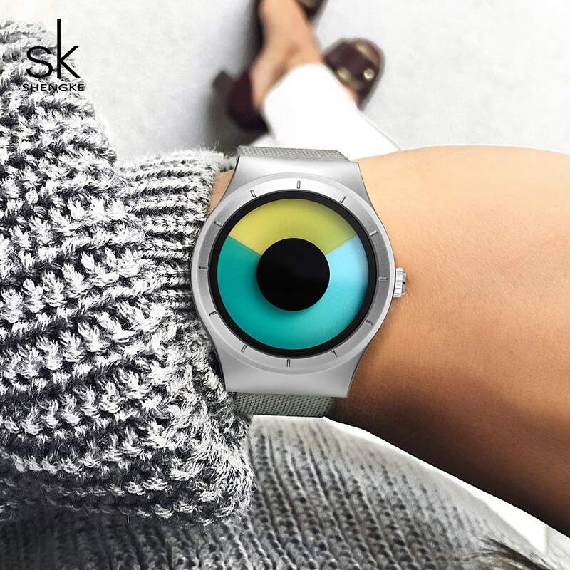 Shengke Stainless Steel Watches Women Brand Luxury Quartz Watch Relogio Feminino 2021 SK Creative Ladies Wrist Best Gifts