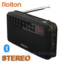 Rolton E500 스테레오 블루투스 스피커 휴대용 무선 서브 우퍼 음악 사운드 박스 핸즈프리 라우드 스피커 FM 라디오 및 손전등