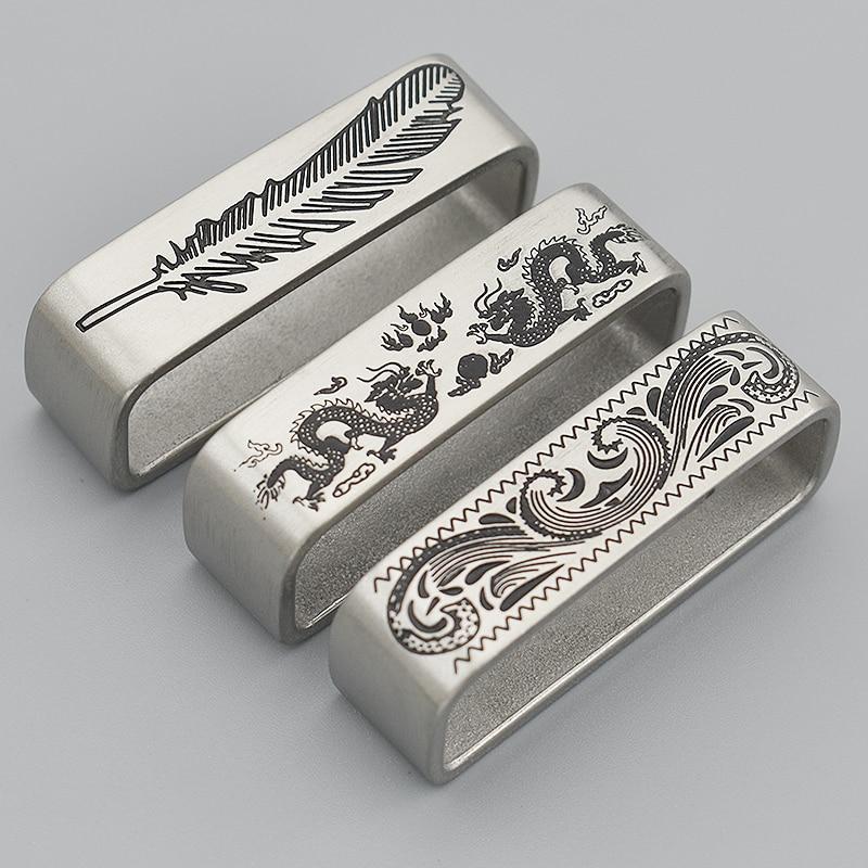 40mm diseño vintage impreso hebilla de cinturón de Metal sólido Acero inoxidable Correa gancho bucle hebilla vaqueros para hombres cinturón Crafts