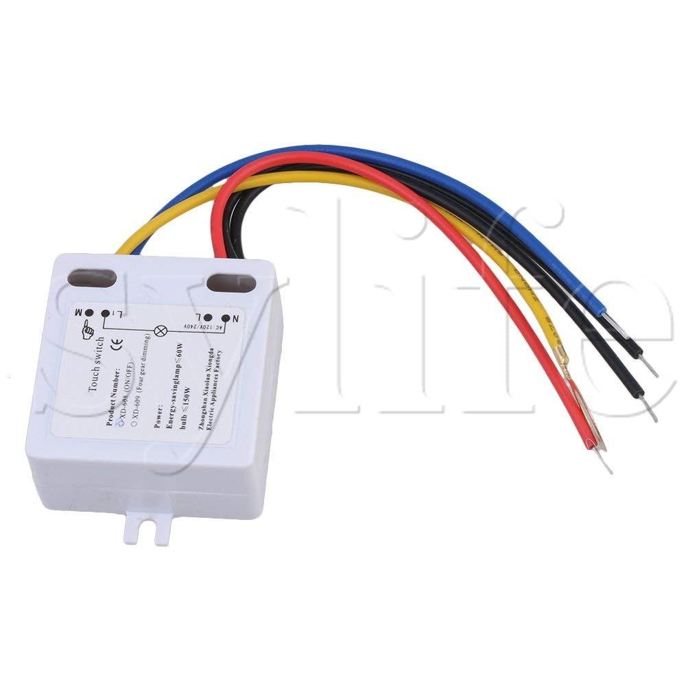 Interruptor táctil On Off 50 a 60HZ LED lámpara DIY accesorios XD-608