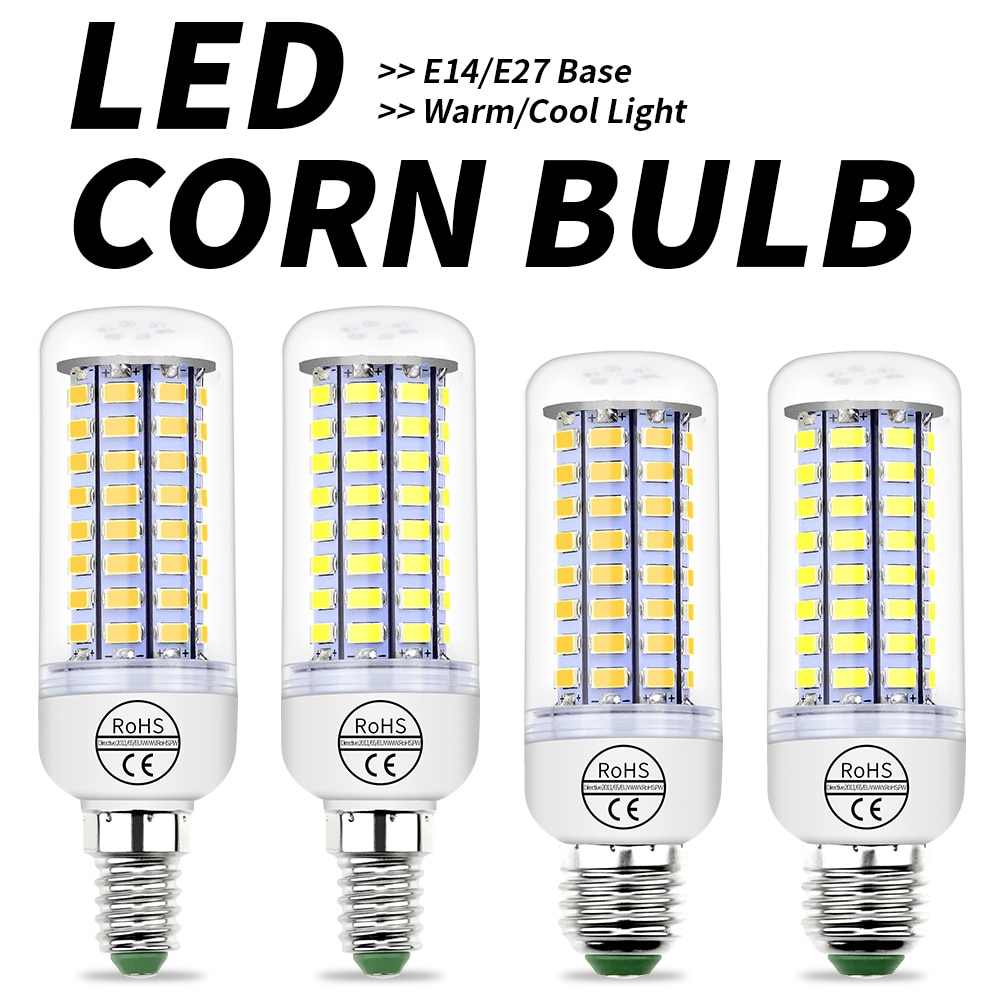 Ampoule LED Lamp 220V Corn Bulb LED E27 Bombillas Led E14 Energy Saving Light for Home 3W 5W 7W 12W