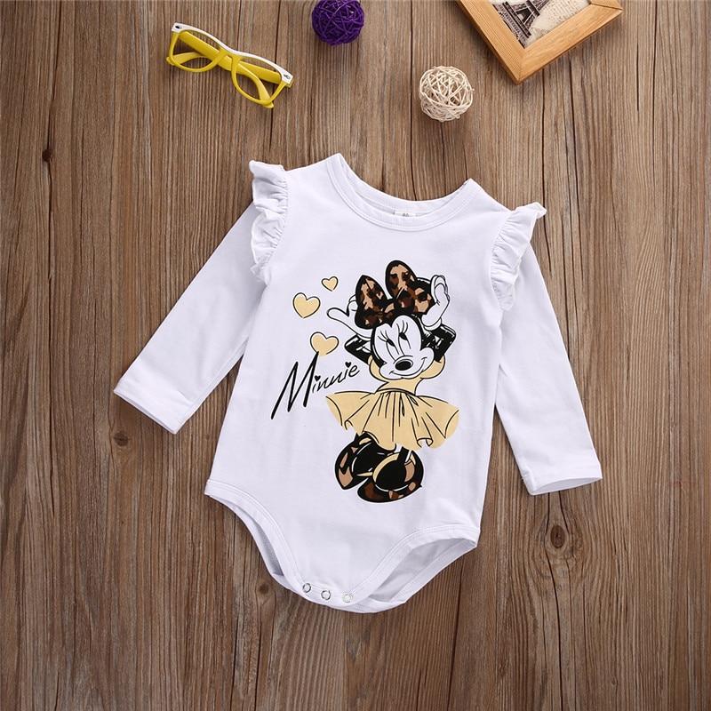 Xmas White Long Sleeve Baby Girl Bodysuit Jumpsuit Newborn Infant Children Kid Autumn New Born Wear Baby Body Girl Clothes