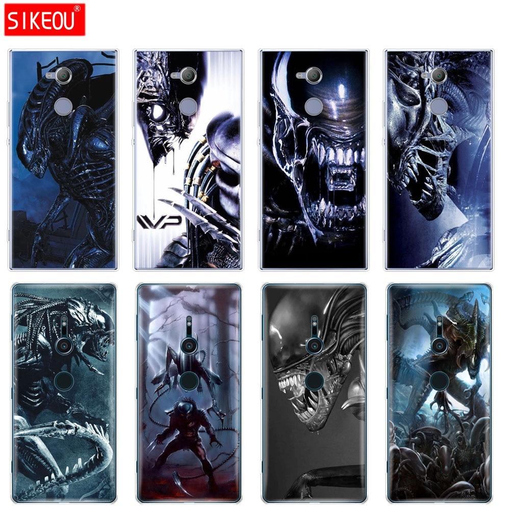 Cover in silicone Cassa del telefono per sony xperia XA1 XA2 ULTRA PIÙ L1 L2 XZ1 XZ2 XZ PREMIUM compatto Alien vs Predator