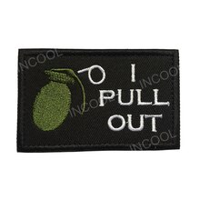 Parche bordado 3D I Pull Out, parche del Ejército de EE. UU., emblema táctico militar, apliques bordados, insignias para mochila, ropa