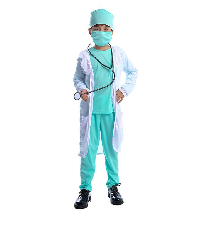 Children's Day Carnival Party Halloween Surgeon Doctor Costumes Boys Kids Child Occupation Cosplay Costume Suit Blue children s day carnival party halloween surgeon doctor costumes boys kids child occupation cosplay costume suit blue