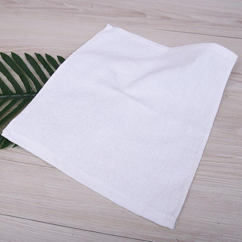10 pçs toalha branca hotel toalhas de microfibra 30cm crianças toalha de mão algodão rosto toalhas de banho bebê hydrofiel doeken serviette toall