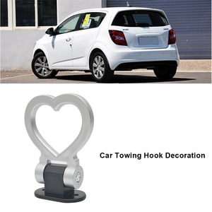 Автомобильный Стайлинг Авто ABS & металлический прицеп крюк декоративный липкий Тяговый буксировочный крюк маленький трейлер кольцевой крюк автомобильный буксировочный крючок