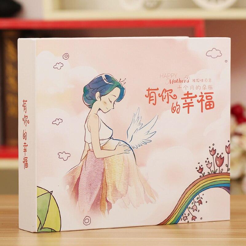2018 nuevo diario de embarazo 3D para mujer embarazada álbum de fotos manual diy madre embarazada álbum de recuerdos libro de registro boudoir