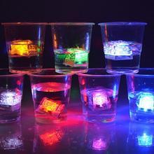 12pcs LED Ice Cubes Glowing Party Ball Flash Light Luminous Neon Wedding Festival Christmas Bar Wine Glass Decoration Supplies