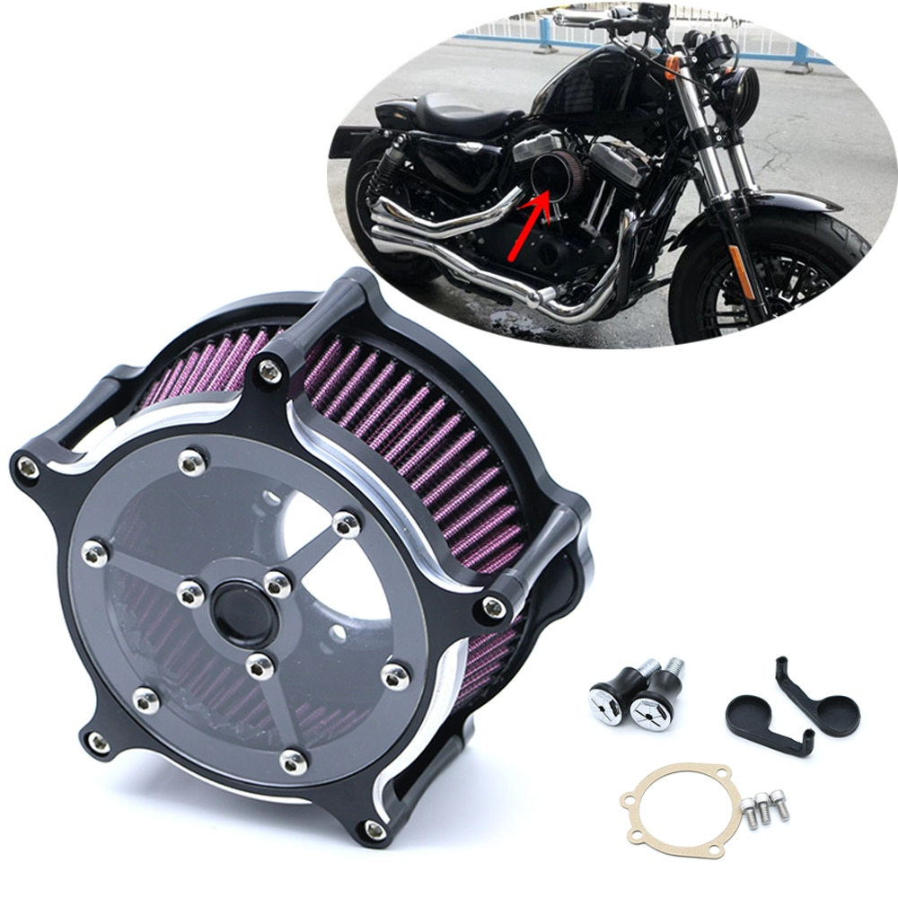 Motocicleta CNC artesanía admisión de filtro de aire filtro para Harley Sportster Road King Glisse Softail Dyna gira Street GLIDE RSD