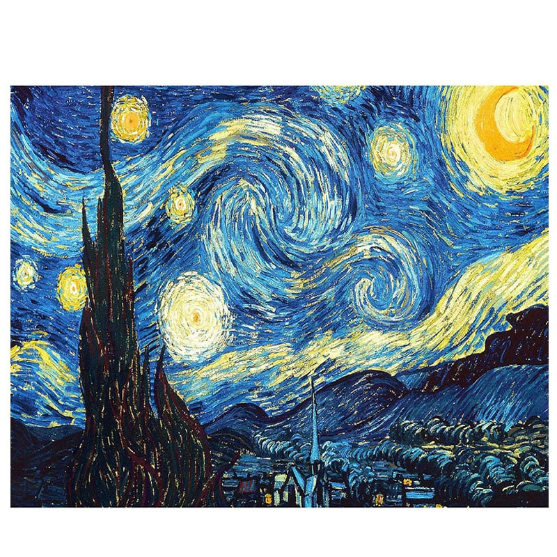 Van Gogh Starry Night DIY 5D Diamond Embroidery Cross Stitch kits Abstract Painting Resin diamond painting mosaic Hobby Craft