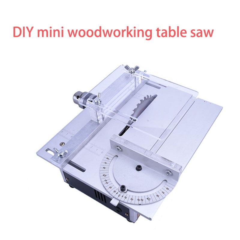 Multifunción eléctrico DIY mini Sierra de mesa manual de carpintería Banco torno de pulido máquina de afilar herramienta de corte