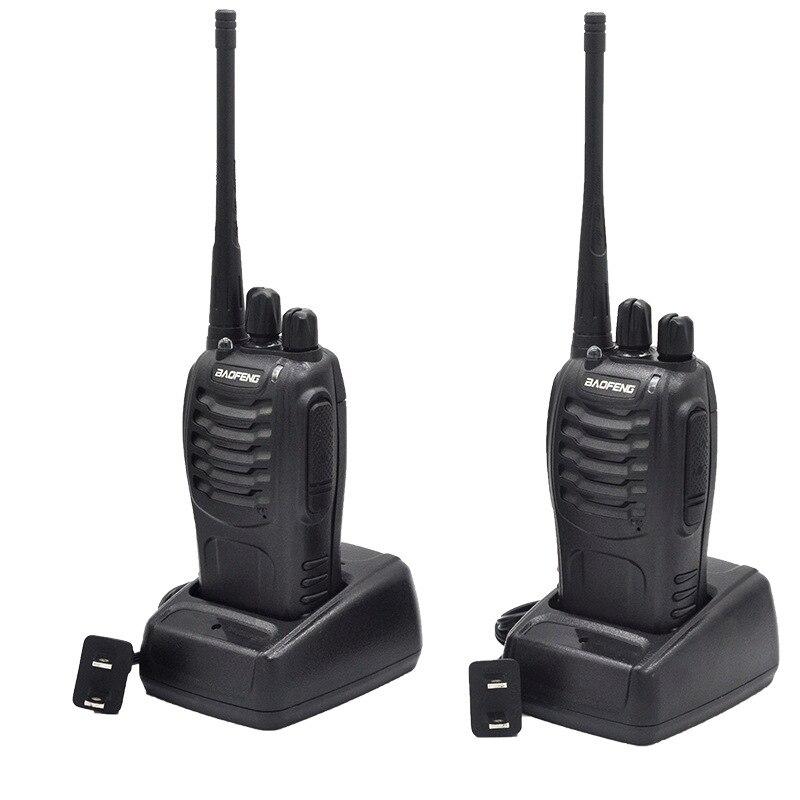 2Sets BF888S transmisor fm portátil UHF Radio de dos vías BF 888S jamón comunicador HF estación de radio cb Walkie Talkie Baofeng BF888S