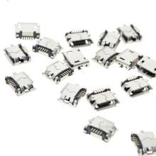 Port femelle Micro USB type B, 5 broches 180 degrés, soudure SMD SMT, montage sur carte PCB