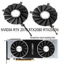 Nouveau DC12V 0.60A processeur stéréo ventilateur de carte graphique pour NVIDIA GeForce RTX 2080 RTX 2080Ti fondateurs Edition