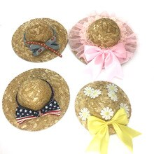 Summer Pet Hat for Dog and Cat  Cool Fashion Outdoor Sun Proof Kitten Puppy Supplies Pet Beach Straw Cap