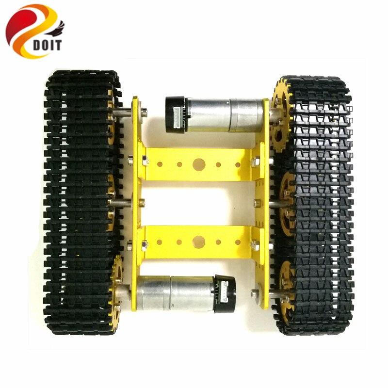 نموذج خزان معدني لسيارة مجنزرة ، روبوت ، هيكل سيارة ، مسار تعليمي ، زاحف/منصة كاتربيلر ، متوافق مع Arduino Uno R3 T100