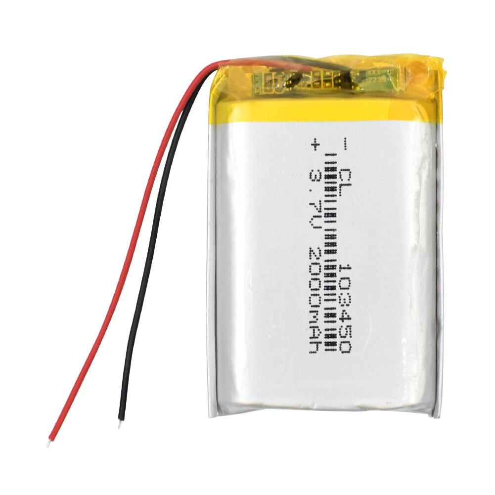 1/2/4 высокого Ёмкость 103450 3,7 V литий-полимерный Батарея 2000 Mah Li-po литий-полимерный аккумулятор MP5 gps Bluetooth Динамик клетки лампа на солнечной батарее