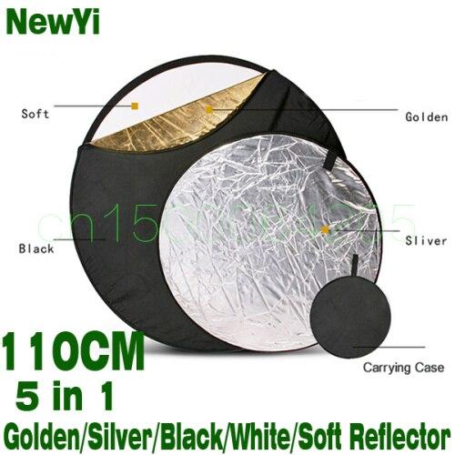 110 cm 5in1 difusor de luz portátil plegable redondo estudio fotográfico Reflector disco Multi Color estudio fotografía Reflector