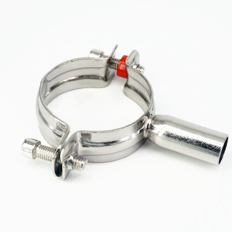 Abrazadera de tubería sanitaria de acero inoxidable 60-63mm 304 Clips soporte de tubo