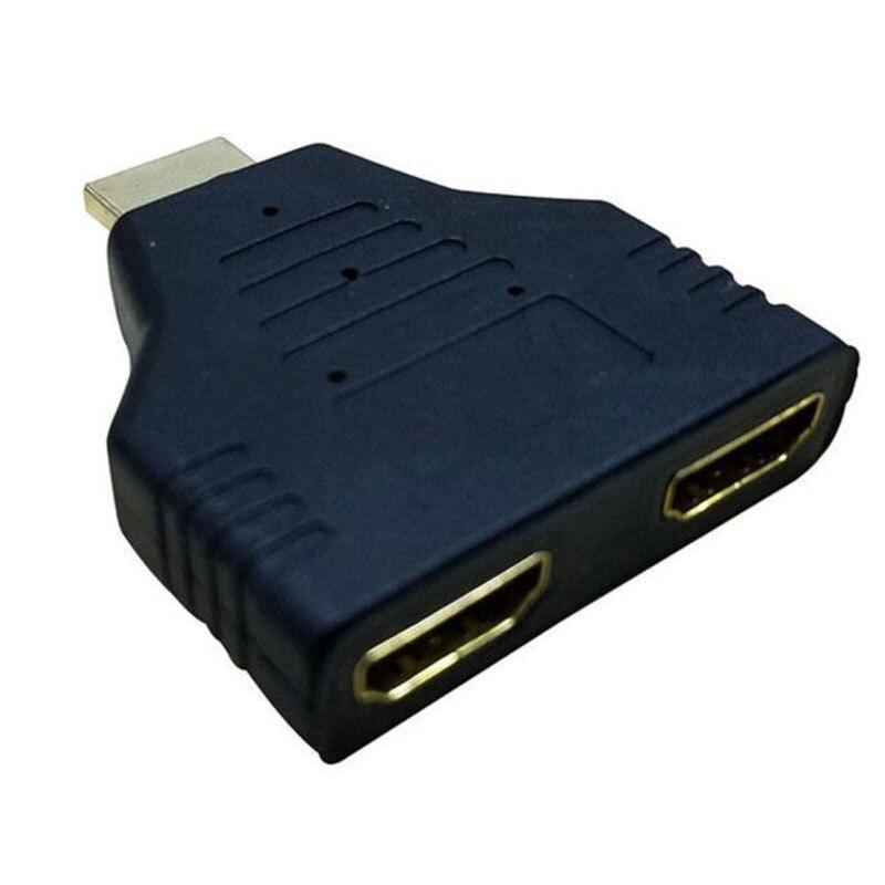 1080 P HDMI Macho para 2 1 Em 2 Fora Splitter Conversor Adaptador Tomada Fêmea
