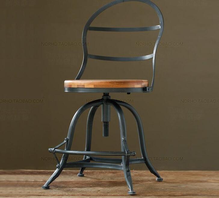 Железный античный деревянный обеденный стул. Кресло для отдыха. Кофейный
