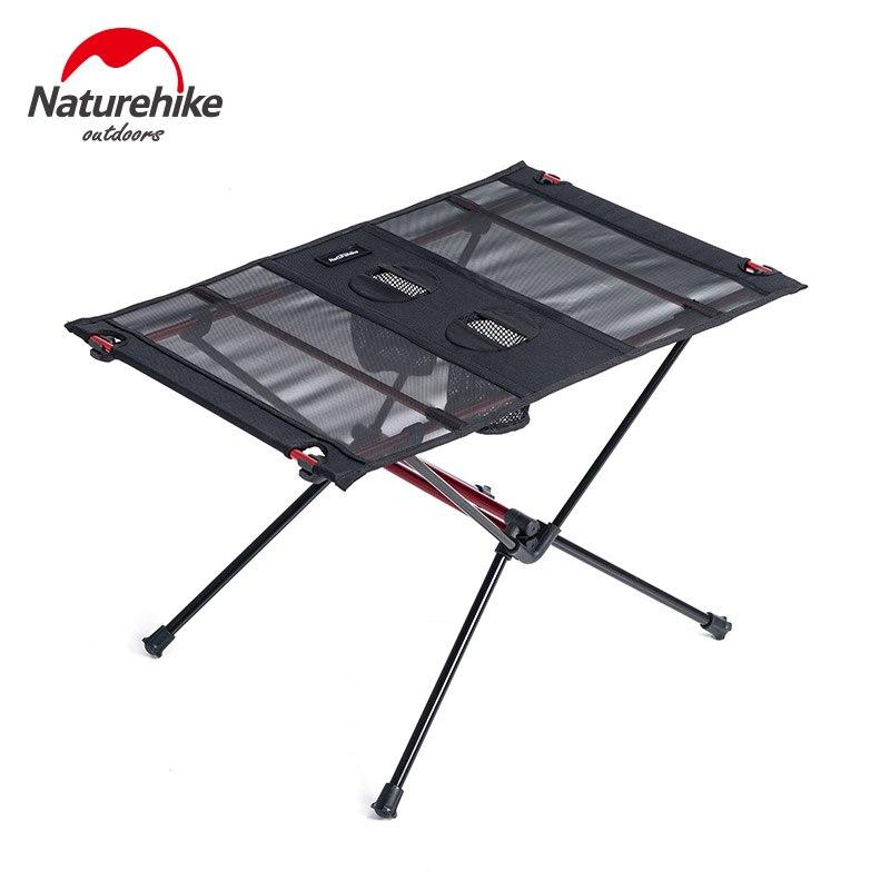 Mesa plegable portátil para exteriores Naturehike, mesa de Picnic ultraligera, mesa de Picnic para viajes al aire libre, Camping, pesca, mesa de peso con rodamiento de 30kg