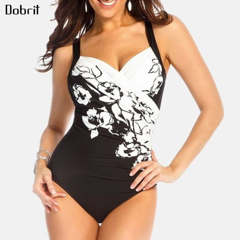 2019 traje de baño Sexy de talla grande para mujer traje de baño de una pieza traje de baño Vintage femenino para Monokini trajes de baño de talla grande M-5XL