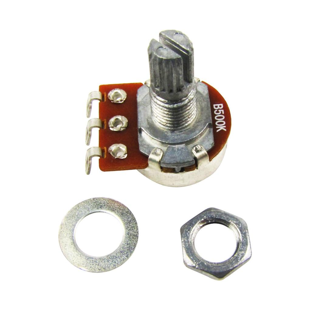 NEW 4PCS Linear Taper Mini Potentiometers B500K Short Split Shaft Control Pots for Guitar Parts