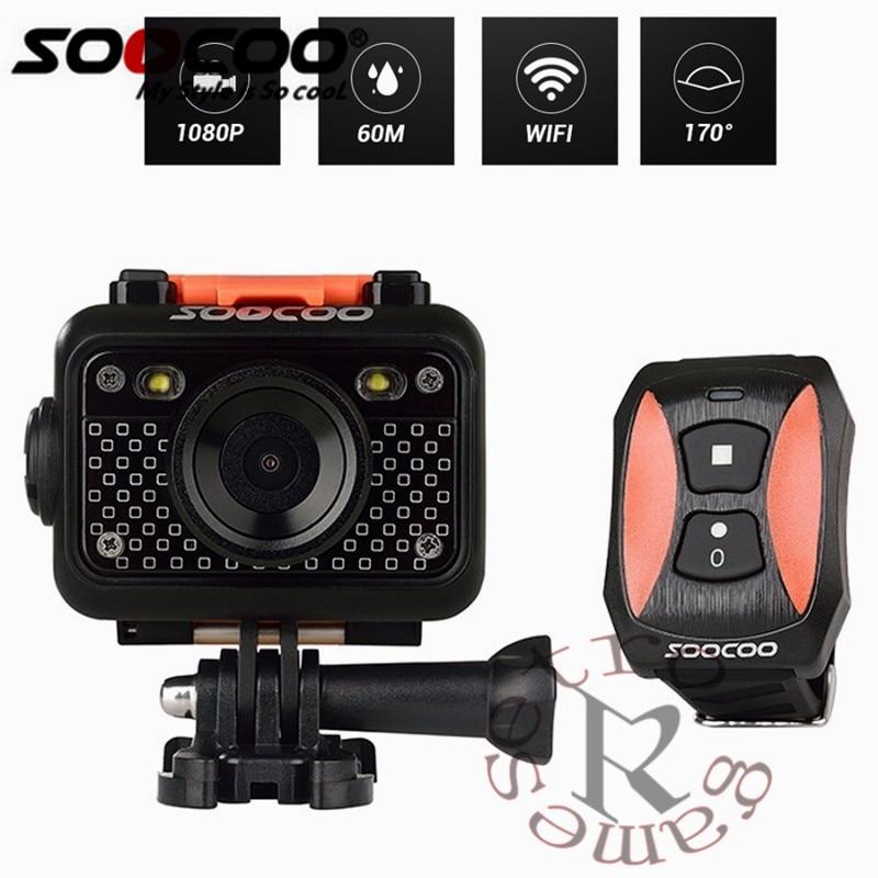 Original SOOCOO S60 Anti-Shock Sports Action Camera, 30M Waterproof Wifi 1080P Full HD 170 Degree Lens Wireless SOS flash signal