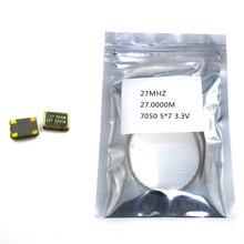 10 pièces SMD 5070 oscillateur à cristal actif OSC 27MHZ 27.0000M 7050 5*7 3.3V 25PPM