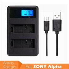 NPFW50 USB entrée LCD affichage batterie appareil photo numérique double chargeur NP-FW50 NP FW50 pour SONY Alpha A7 A7R A7S A5000 A6000 NEX-3