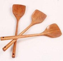Poêle à frire en bois pelle à manche long spatule spéciale en titane ustensiles de cuisine en bois