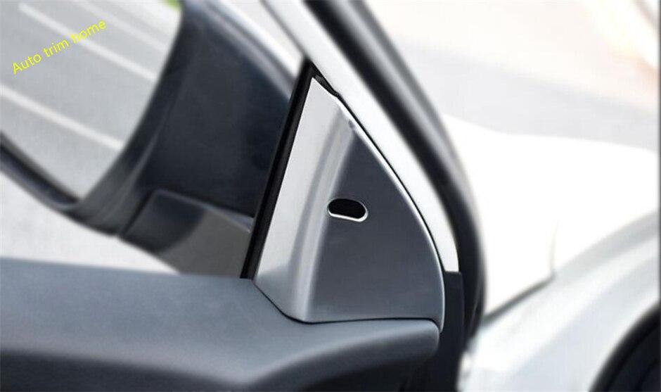 Lapetus Fit For Nissan Qashqai J11 2014 2015 2016 2017 2018 2019 2020 ABS Inner Pillar A Frame Molding Garnish Cover Trim 2 Pcs