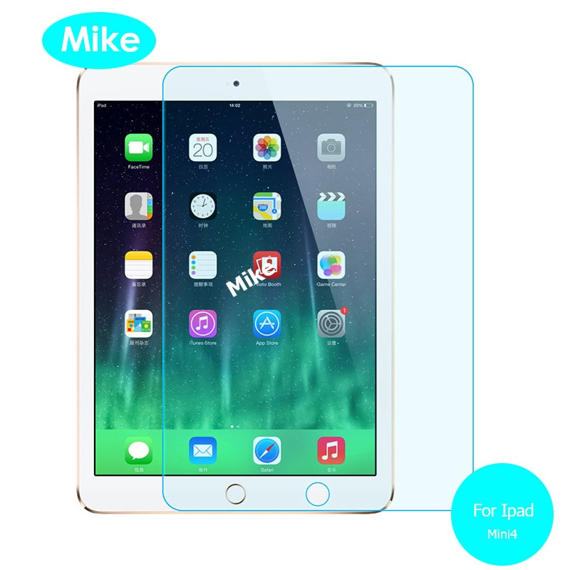 For Ipad mini 4 Front Tempered Glass screen Protector 9h Safety Protective Glass on Mini4 A1550 A1538