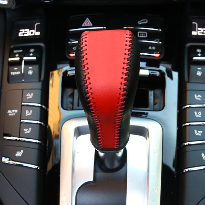 Handemade cambio automático de transmisión cubierta superior de cuero para Porsche Cayenne 2011-2017 Z2EA1336