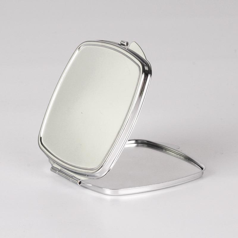 Espejo compacto de Metal cuadrado en blanco de 10 uds, espejo de diseño de logotipo personalizado DIY, envío gratis
