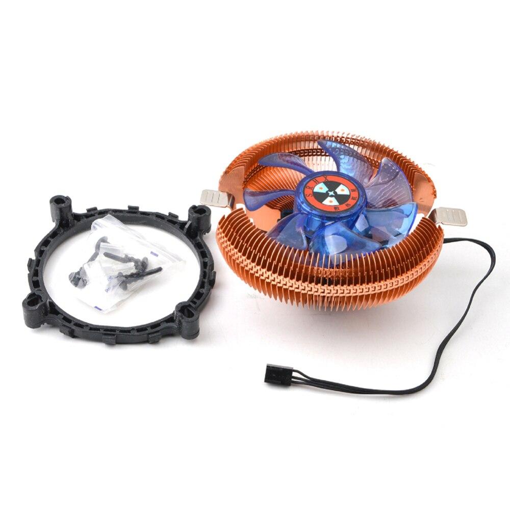 Вентилятор охлаждения процессора компьютера 12 В гидравлический вентилятор радиатора подшипника ПК чехол радиатор воздушного охлаждения д...