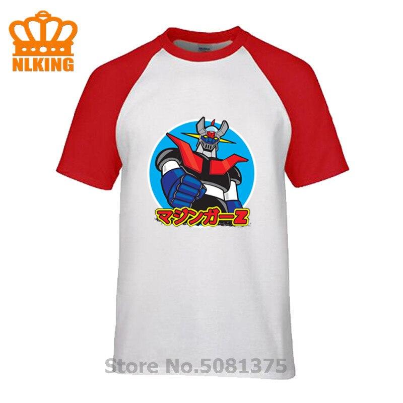 Camisetas clásicas Retro Mazinger Z Anime 100% algodón xxxl cuello redondo Camiseta hombres playa gráfica manga corta divertida camisetas