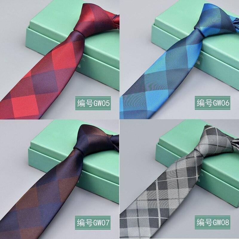 6cm Silk Mens Ties New Design Neck Ties 6cm Plaid&Striped Ties for Men Formal Business Wedding Party Gravatas недорого