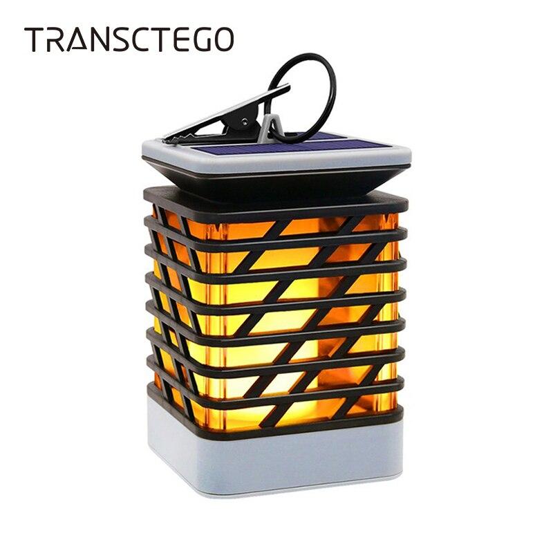 Светодиодный фонарь на солнечной батарее уличная Мерцающая лампа для украшения