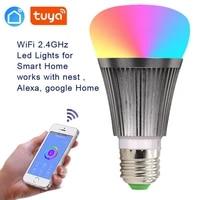 Ampoule Led connectee WiFi  RGBW  interrupteur de lampe  variable  Compatible avec Alexa et Google Home Assistant