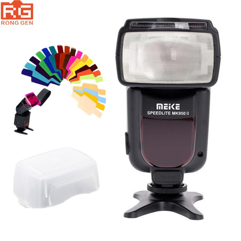 Meike MK950 MK950II-N TTL flash speedlite para Nikon D7100 D7000 D5200 D5100 D5000 D3100 D3200 D600 D90 D80 D60 D5000 d3100 D850