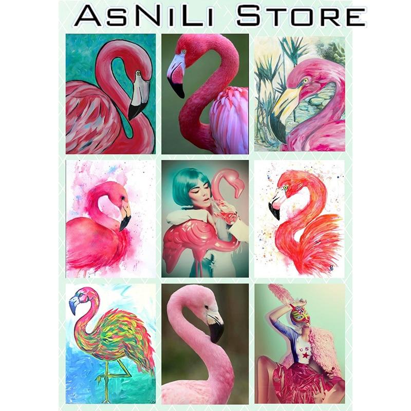 Animal Flamingo Diamond Painting 5D DIY Diamond Embroidery Cross Stitch Kit Floral Needlework Mosaic All Rhinestone Christmas ZT