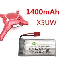 3.7 V 1400 mah Lipo batterie 1S pour Syma X5HC X5HW X5UW X5UC RC quadrirotor pièces de rechange 3.7 V batterie RC caméra Drone pièces