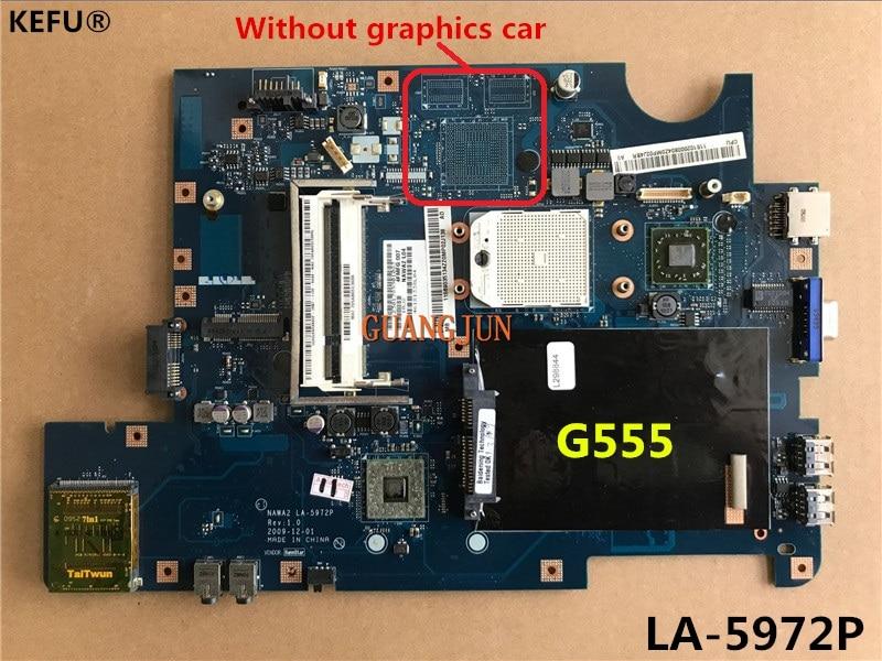 KEFU envío gratis para Lenovo G555 Motherboard LA-5972P totalmente probado