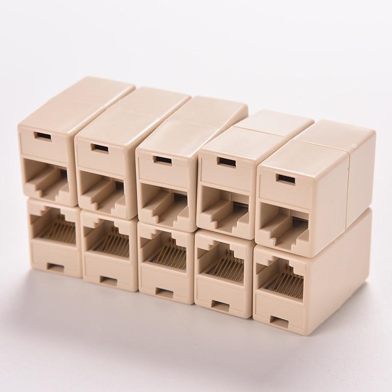 1/5/10pcs RJ45 Cat5 8P8C Socket Connector Coupler For Extension Broadband Ethernet Network LAN Cable Joiner Extender Plug