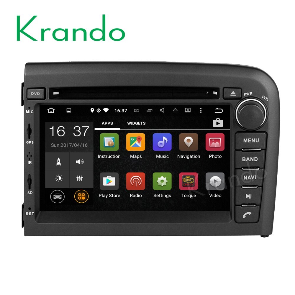 Krando Android 8,0 Автомобильная Мультимедийная система для volvo s80 1998-2006 радио gps Стерео навигация dvd-плеер WIFI 3G Playstore