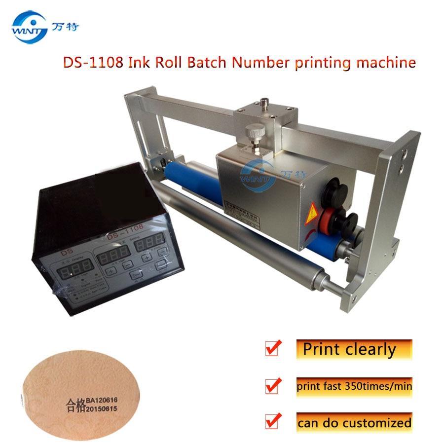 DS-1108 Coder принтер, кодирующая машина, печатная машина для твердых чернил, Дата истечения срока годности партии, печатная машина с синхронным о...