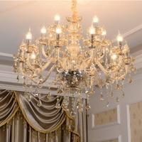 LED Modern Crystal Chandeliers Amber Chandelier Bed Room Chandelier Lighting Kitchen Long Crystal Chandelier Lights Dining Room